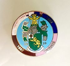 "Corinthian-Casuals FC Enamel Badge LARGE (25mm / 1"")"