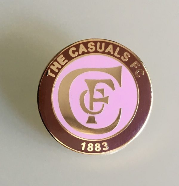 "Casuals FC Enamel Badge LARGE (25mm / 1"")"
