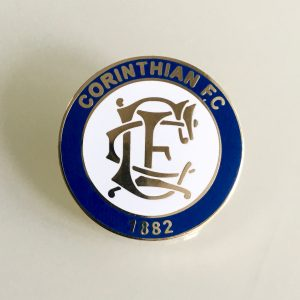 "Corinthian FC Enamel Badge LARGE (25mm / 1"")"